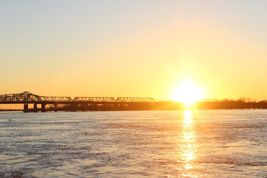 Sunset on theMississippi